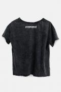 Camiseta Feminina Ampla Liga da Justiça Snyder Cut - Darkseid Pose