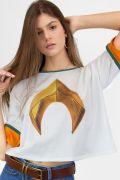 Camiseta Feminina Aquaman Logo Movie