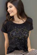 Camiseta Feminina Batgirl Constelação