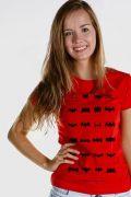 Camiseta Feminina Batman 75 Anos Logos Collection 2