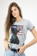 Camiseta Feminina Batman O Mundo Estados Unidos
