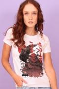 Camiseta Feminina Batman O Mundo Japão