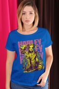 Camiseta Feminina Birds of Prey Harley Quinn Golden - Aves de Rapina