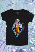 NÃO ATIVAR Camiseta Feminina Birds of Prey Harley Quinn Sorriso - Aves de Rapina