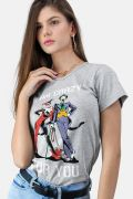 Camiseta Feminina Coringa e Harley Quinn I am Crazy for You
