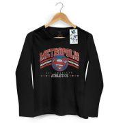 Camiseta Feminina de Manga Longa Superman All American Athletics