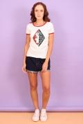 Camiseta Feminina Esquadrão Suicida Arlequina Face