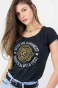 Camiseta Feminina Gotham There´s Always Light
