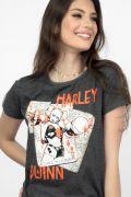Camiseta Feminina Harley Quinn Cards