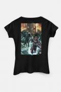 Camiseta Feminina Liga da Justiça Snyder Cut - Darkseid Em Ação