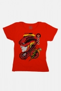 Camiseta Feminina Liga da Justiça Snyder Cut - Flash Face