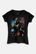 Camiseta Feminina Liga da Justiça Snyder Cut - Steppenwolf Em Ação