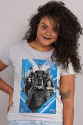 Camiseta Feminina Liga da Justiça United to Stand