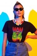 Camiseta Feminina Mulher Maravilha 1984 Retrô