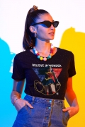 Camiseta Feminina Mulher Maravilha Believe In Wonder