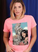 Camiseta Feminina Mulher Maravilha Save The Selfie