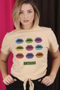 Camiseta Feminina Nózinho Batman Bocas Colors
