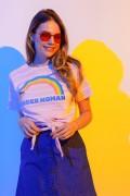 Camiseta Feminina Nozinho Mulher Maravilha Arco-Íris