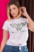 Camiseta Feminina Nozinho Mulher Maravilha Tropical