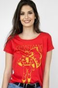 Camiseta Feminina Shazam Silhouette