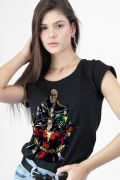 Camiseta Feminina Shazam VS Doctor Sivana