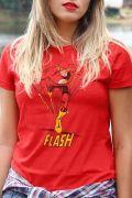 Camiseta Feminina The Flash Em Ação