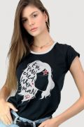 Camiseta Feminina Mulher Maravilha Empowered