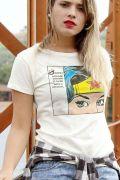 Camiseta Feminina Wonder Woman Face