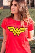 Camiseta Feminina Mulher Maravilha Logo