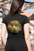 Camiseta Feminina Mulher Maravilha Shield
