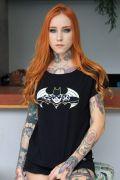 Camiseta Gola Canoa Batgirl Face