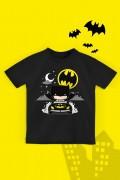 Camiseta Infantil Batman Batmóvel