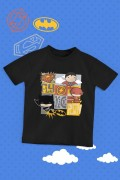 Camiseta Infantil Batman, Superman e The Flash
