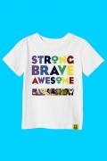 Camiseta Infantil Strong Brave