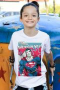 Camiseta Infantil Superman American Way