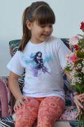 Camiseta Infantil Mulher Maravilha Watercolor