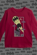 Camiseta Manga Longa Infantil Batman Bat-Sinal