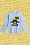 Camiseta Manga Longa Infantil Batman Batmóvel