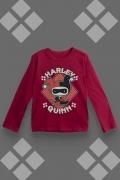 Camiseta Manga Longa Infantil Harley Quinn Angry