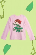 Camiseta Manga Longa Infantil Hera Venenosa