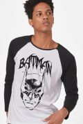 Camiseta Manga Longa Masculina Batman Dark Alley