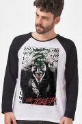 Camiseta Manga Longa Masculina The Joker a Piada Mortal