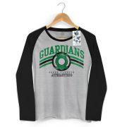 Camiseta Manga Longa Raglan Feminina Lanterna Verde Guardians Athletics