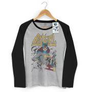 Camiseta Manga Longa Raglan Feminina Power Girls Batgirl