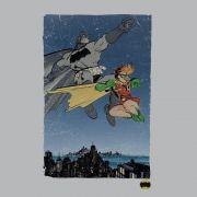 Camiseta Manga Longa Raglan Masculina Batman e Robin