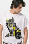 Camiseta Masculina Batman 80 Anos As Faces de Batman