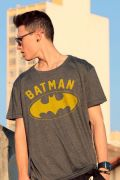 Camiseta Masculina Batman Logo Yellow