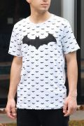 Camiseta Masculina Batman Mini Logos