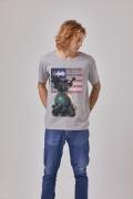 Camiseta Masculina Batman O Mundo Estados Unidos