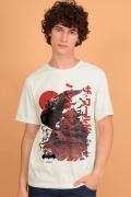 Camiseta Masculina Batman O Mundo Japão